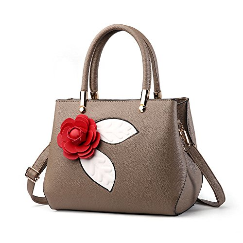 ANNE, Borsa a mano donna marrone Khaki Light Grey