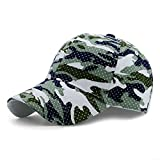 GADIEMENSS Sports Hat Breathable Outdoor Run Cap Camo Baseball caps Shadow Structured hats (Light Green)
