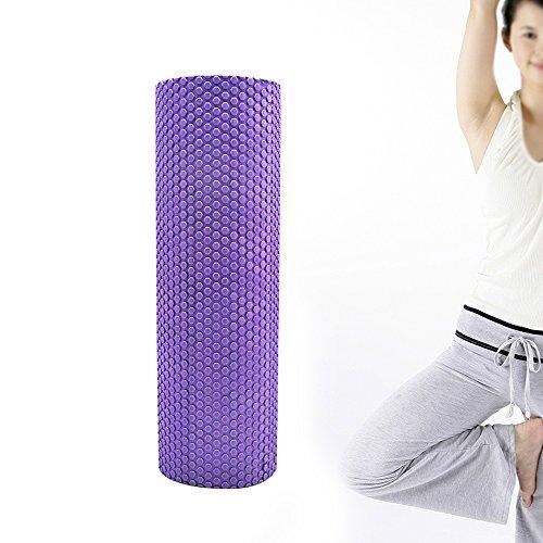 Preisvergleich Produktbild Denshine Yoga Rolle Pilates Rolle Massagerolle Fitnessrolle Lila