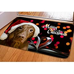 Idea Regalo - Nopersonality Marry Christmas Hoilday Xmas Home Decor zerbino d' Ingresso zerbino 61 x 40,6 cm, Flanella, Christmas Pet1, Small