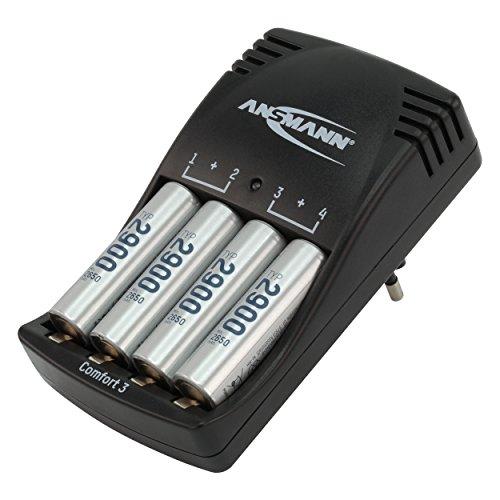 Galleria fotografica Ansmann Comfort 3batteria del caricatore per AAA/AA ricaricabili + 4X mignon AA batteria Tipo. 2900(Min. 2650mAh)