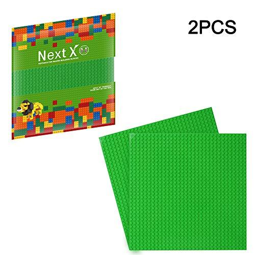 NextX 2 Piastre Base Compatibili con Giochi di Costruzioni Classici – Basi in Plastica ABS Non Tossico - Dimensioni 25 x 25 cm – Sabbia