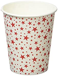 Neviti 677927, Carnaval taza, diseño con estrellas, color rojo, pack de 8