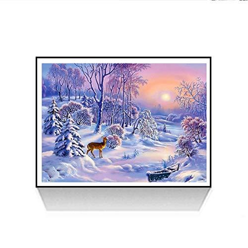 Riou DIY 5D Diamant Painting Voll ,Stickerei Malerei Diamant Weihnachtsmann Muster Weihnachten Strass Stickerei Bilder Kunst Handwerk für Home Wall Decor gemälde Kreuzstich (Mehrfarbig E, 30 * 40cm) -