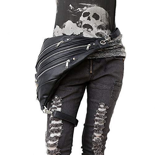 CBA BING Gothic Leder Rucksack Retro Rock Steampunk Messenger Bag Outdoor Männer und Frauen Taktische Taschen