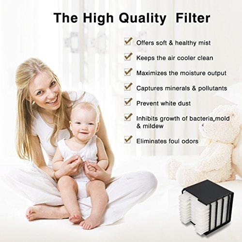 Suzada Filter Ersatz für Mini Luftkühler Ventilator Air Cooler Mobil Klimageräte mit Wasserkühlung, 11,5 * 11 * 12cm