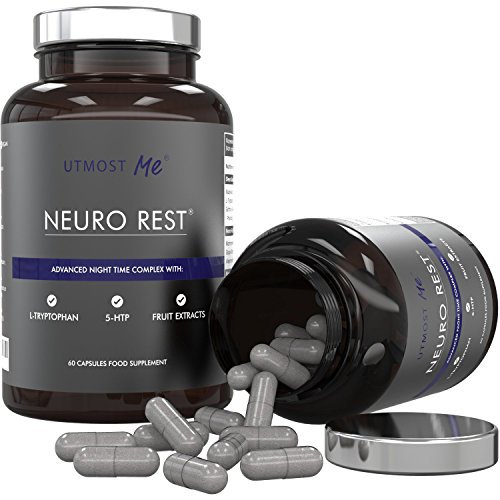 5-HTP, L-Tryptophan, L-Taurine, Chamomile, Biotin, Magnesium & Fruit Extracts | Neuro Rest - High Strength All Natural Sleep & Anxiety Relief Supplement | Avoid Sleeping Pills, Sedatives & Medication | Proven Synergy Blend Without Side Effects Of Too Much 5HTP | 100% Money Back Guarantee (1 x Neuro Rest (30 Day Supply)) Test