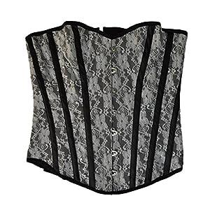 """El celibato 53099400.001M - consejos Burlesque àÅ""""berbrust ramillete con rayas verticales decorativas - Blanco/Negro - Gr. M"""