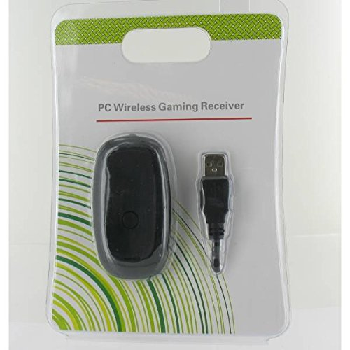 Wireless USB Empfänger Receiver für XBOX 360 Controller Adapter für PC in Schwarz