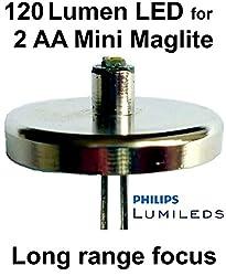 Mini Maglite AA LED Upgrade Birne 120 Lumen 1 watt Lumileds Taschenlampe Modul, UpLED