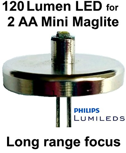Mini Maglite AA LED Upgrade Birne 120 Lumen 1 watt Lumileds Taschenlampe Modul, UpLED 2 Aaa Mini