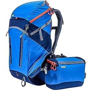 Mindshift gear système de rotation180 horizon bleu tahoe outdoor sac à dos sac à dos, sac à dos de randonnée avec ceinture rotatif pour une grande dSLM) appareil photo reflex numérique ou une caméra et accessoires (bleu/noir)