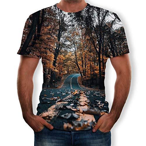 Kostüm Gutschein-codes (TEBAISE T-Shirt Herren Damen 3D Druck Kurze Ärmel Fun Shirt Unisex 3D Druckten Shirts Sommer Beiläufige Kurze Hülsen T-Stücke 3D Galaxy Gedruckte Kurzarm Shirts mit Sternenhimmel Print 2019 Vatertags)