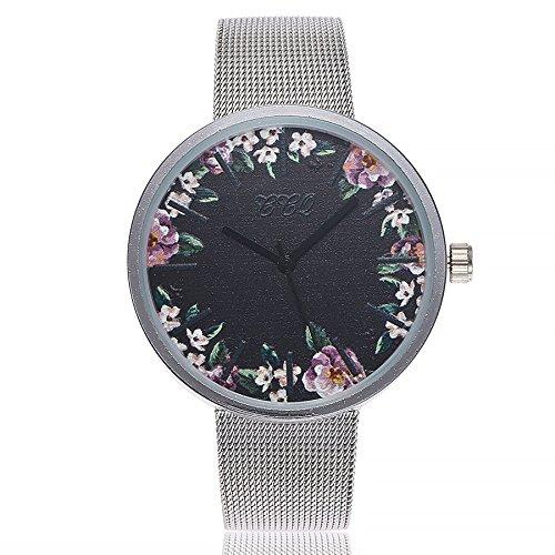 Damen Einfach Armbanduhr, Frauen Fashion Damenuhr Analog Quarz Uhr Elegant Ultra-flach Slim-Uhr Wrist Watch mit Mesh Edelstahl, LEEDY Förderung! - Bronze Flach Mesh