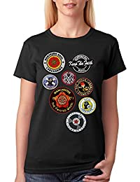 Soul Badges Patches Printed Women's Fashion Quality Heavyweight T-Shirt by 45REVS.
