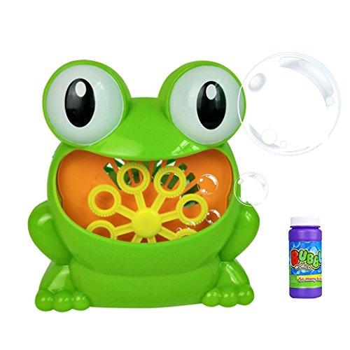 Dabixx Frosch Bubble Machine Set, Frosch-automatische Blasen-Maschinen-Gebläse-Hersteller-Partei-Hochzeit im Freien scherzt Spielzeug-Spiele - EIN#