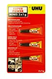 Uhu Sekundenkleber Super Power Minis 3 x 1g Tube