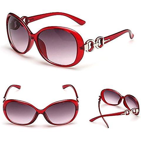 Vino Rosso Nuovo Da Donna Vintage Cuore Shades Occhiali design Occhiali da sole Mondo Eye Wear