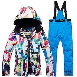 Gski Damen Skijacken & Hosen Windundurchlässig, Warm/Camping & Wandern/Snowboarding Poly, umweltfreundlich Polyester Hosen/Regenhose/Schnee-Trägerhose/Oberteile