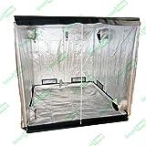 Bombilla de Premium 240 x 120 x 200 cm 600D de tereftalato de polietileno iridiscente para interiores Grow Box de ventilación cuarto oscuro