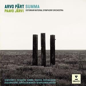 Pärt : Summa - Oeuvres orchestrales