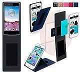 Oppo Neo 3 Hülle in blau - innovative 4 in 1 Handyhülle -