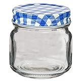 2 x Aufbewahrungsglas mit Metallschraubverschluss blau   Einkochglas mit Schraubverschluss   Marmeladengläser   Einweckgläser   Vorratsgläser mit Schraubverschluss   Gewürzgläser   Preis am Stiel®