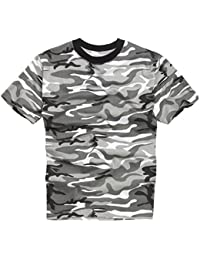 Army and Outdoors 100% Baumwolle Militärstil T-Shirt - Stadt Camouflage
