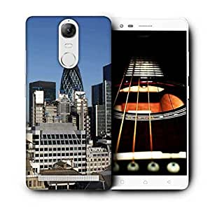 Snoogg Abstract Buildings Designer Protective Phone Back Case Cover For Lenovo Vibe K5 Note