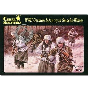 Unbekannt Caesar Miniatures H083-Figuras de construcción WWII German Infantry en Smocks de Wi