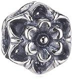 Trollbeads 11339 - Perla con foro a forma di fiore di zucchina