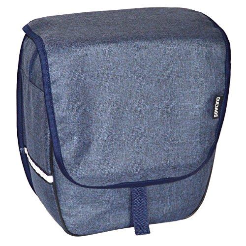 C-BAGS HEART single BLANKED Gepäckträger Fahrradtasche Tasche verschiedene Muster Navy