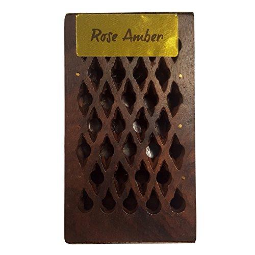 Räucherwerk Rose/Amber Duft Harz dekorativer Holzbox FindSomethingDifferent - Victoria Vanilla Parfüm