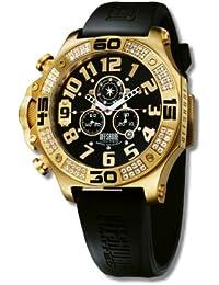 Offshore Limited 009 PR I - Reloj cronógrafo de cuarzo para hombre con correa de silicona, color negro
