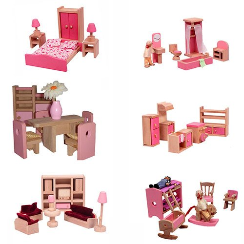 mamakiddies-wooden-doll-house-40-plus-furniture-and-dolls-pink
