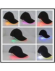 IPUIS Casquette LED Casquette de Chapeau Lumineuse Eclairage Casquette de Baseball avec 7 Couleur Lampe Torche