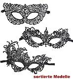 Stoff-Dominomaske, Spitzen-Domino, venezianische Maske (Modell 3)