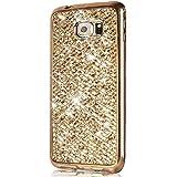 Coque Galaxy S7,Surakey Samsung Galaxy S7 Paillette Bling Glitter Ultra Mince Transparente Coque Silicone Gel TPU Souple Bumper Housse Etui de Protection pour Samsung Galaxy S7, Or