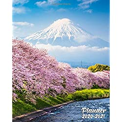 2020-2021 Planner: 2 Year Weekly Planner & Daily Organizer with To-Do's, Holidays & Inspirational Quotes, Vision Boards & Notes | Two Year Calendar & ... | Mount Fuji & Spring Cherry Blossoms