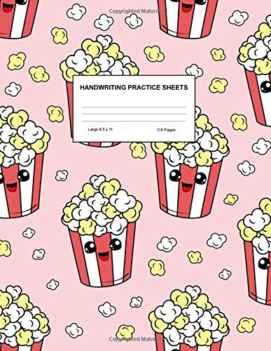 Handwriting Practice Sheets: Cute Blank Lined Paper Notebook for Writing Exercise and Cursive Worksheets - Perfect Workbook for Preschool, ... 3rd and 4th Grade Kids - Product Code A4 5133 -