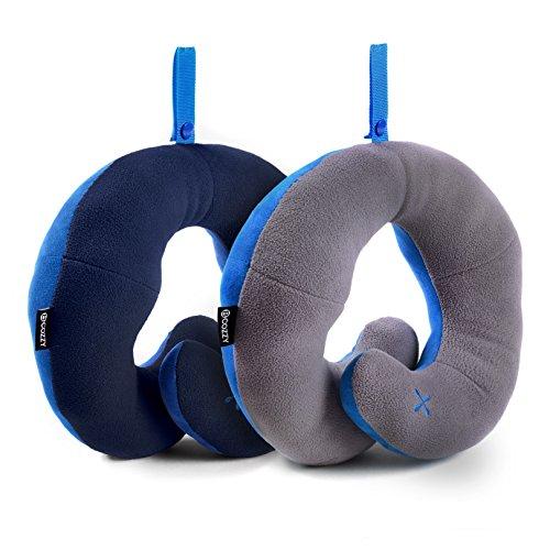 Oreiller de voyage BCOZZY avec support pour le menton – soutient la tête, le cou et le menton pour un maximum de confort en position assise. Produit b...