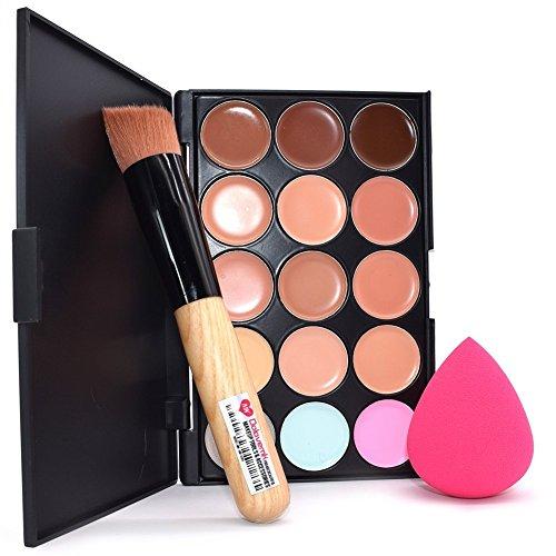 Dolovemk Face Ensemble de maquillage, maquillage Anti-cernes Palette de souligner kit + Brosse + Beauté blending éponge Œuf pour les débutants de maquillage