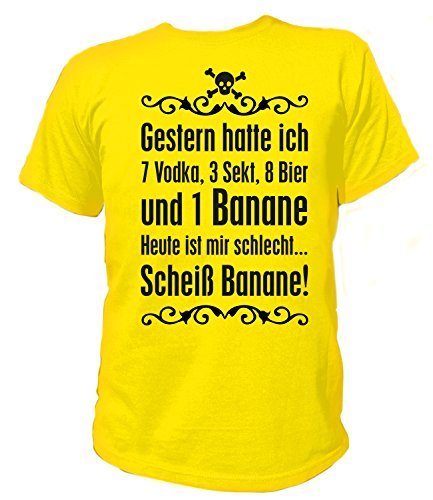 Artdiktat Herren T-Shirt Scheiss Banane Größe XXL, gelb