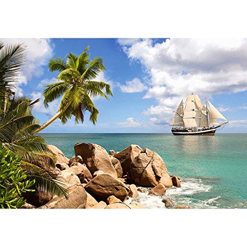 Küsten-inseln (alles-meine.de GmbH Puzzle 1500 Teile - Sailing in Paradise  - Segelschiff Paradies Segel Yacht Karibik - Schiff Segeln Palme Küste Strand Insel - Dreimaster Fregatte Segelboot..)