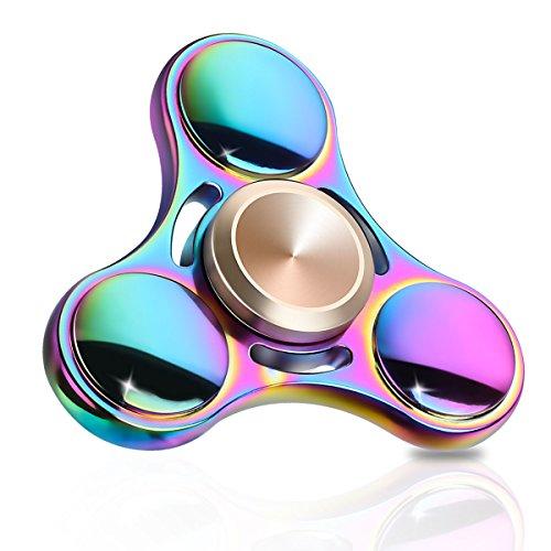 Preisvergleich Produktbild Cheeringary Hand Spinner Fidget Tri-Spinner Finger Fidget Toy Rainbow Metall Handspinner Prime 3D Druck Spielzeug (Mehrfarbig A)