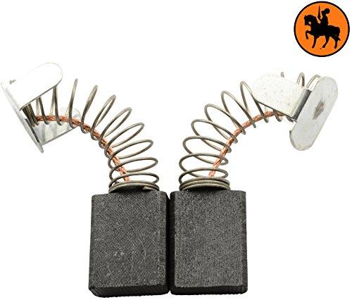 Buildalot Specialty Kohlebürsten ca-07-75822 für Ryobi Säge W6402CI - 6,4x13,4x17mm - Mit Federn, Kabel und Stecker - Ersatz für Originalteile 613 AA, 613 GX, 613AA, 6540053 & 6541283