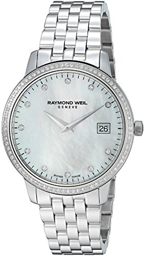 RAYMOND WEIL WOMEN'S TOCCATA DIAMOND 45MM QUARTZ MOP DIAL WATCH 5388-STS-97081