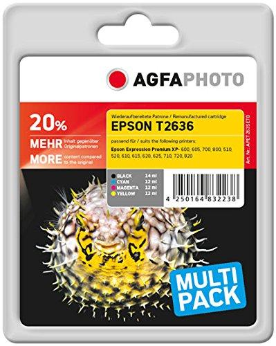 Preisvergleich Produktbild AgfaPhoto APET263SETD Eps XP600 Tintenpatrone, 1x 500 Seiten schwarz und 3x 700 Seiten color