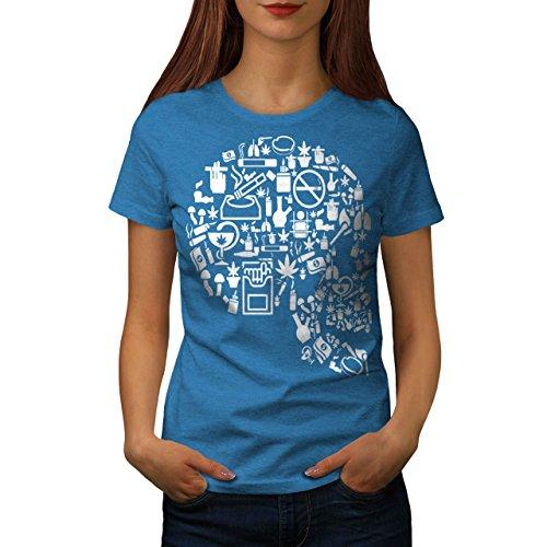 Kopf Rasta 420 Gras Schädel Damen S-2XL T-shirt | Wellcoda Royal Blue