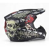 YSH Helmet Motorcycle Adult Motocross Off Road Helmet ATV Dirt Bike Downhill MTB DH Racing Helmet Cross Helmet,MattBlack-S(52-55cm)